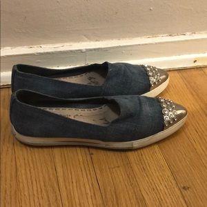 Miu miu crystal sneakers 40.5